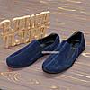 Туфли-мокасины мужские замшевые, цвет синий, фото 3