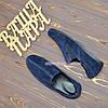 Туфли-мокасины мужские замшевые, цвет синий, фото 4