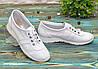 Кожаные легкие кроссовки,сквозная перфорация, фото 2