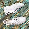 Кожаные легкие кроссовки,сквозная перфорация, фото 4