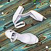 Босоножки женские кожаные на высоком устойчивом каблуке, цвет белый, фото 3