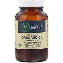 "Масло орегано Vitality Works ""Oregano Oil"" карвакрол 70 (120 капсул)"