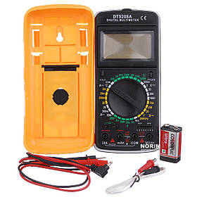 Мультиметр многофункц.циф. зі звуком і дисплеєм + температурний контролер DT-9208