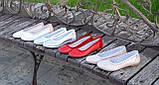 Балетки на низькому ходу, з натуральної шкіри рожевого кольору сатин, фото 5