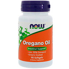 "Масло орегано NOW Foods ""Oregano Oil"" 181 мг (90 гелевых капсул)"