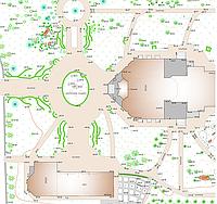 Контурная съемка, определение площади и координат границ земельного участка