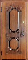 """Двери входные Модель """"Корона золотая"""" (золотой дуб, патина), фото 1"""