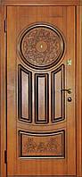 """Двери входные Модель """"Круг"""" (золотой дуб, патина)"""