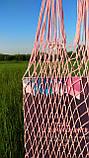 Шоппер сумка - Плетеная Авоська - на плечо розовая, фото 2