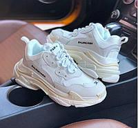 Balenciaga Triple-S Cream White | кроссовки женские; баленсиага; кремовые-белые