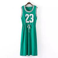 Яркое спортивное платье