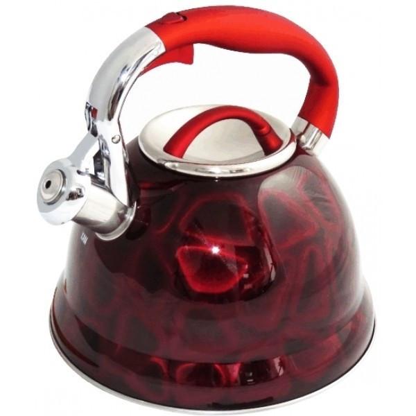 Чайник со свистком Edenberg 3.0 л Красный (EB-1910R)