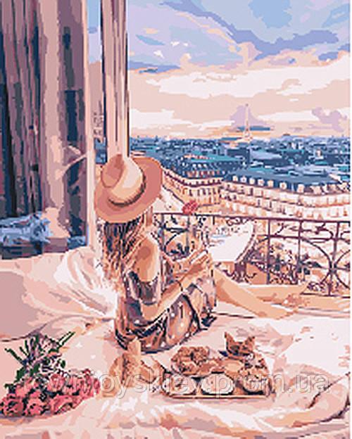 "Картина по номерам. Люди ""Отдых в Париже"" 40*50см KHO4544"