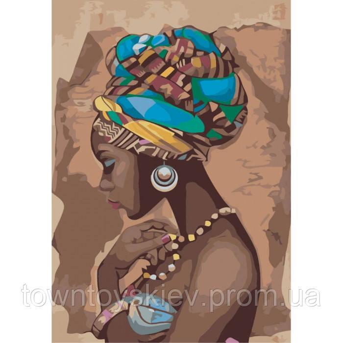 "Картина по номерам. Люди ""Жемчужина Африки"" 35*50см * KHO2625"