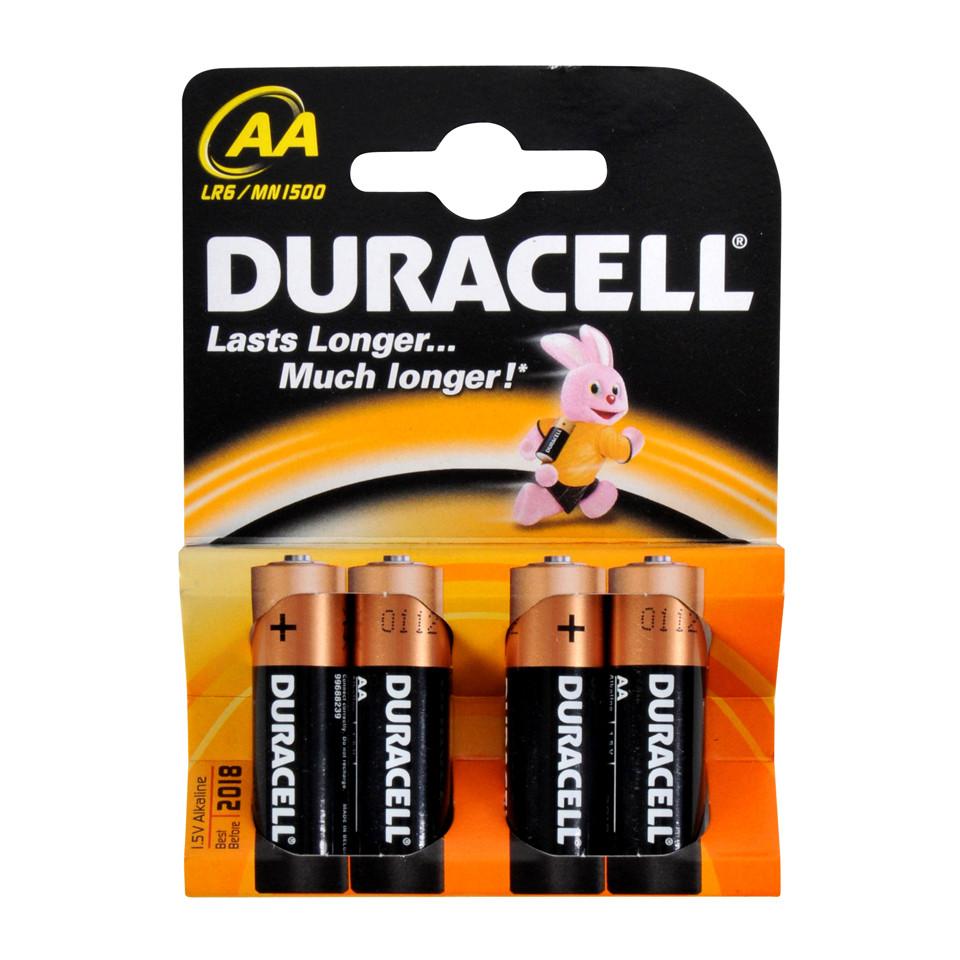Батарейки Duracell AA (LR06) MN1500 4 шт.