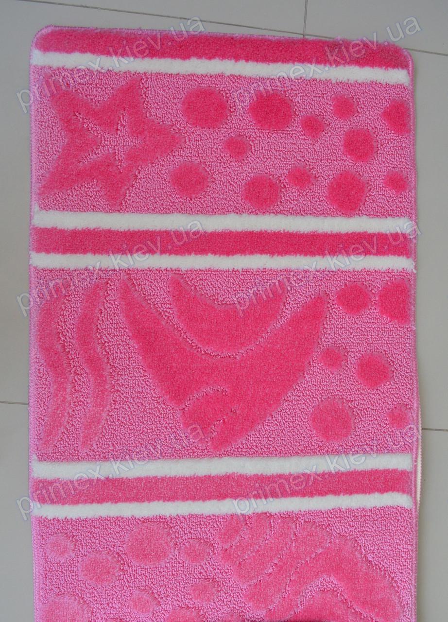 """Коврик для ванной, 60х100 """"Морская рыбка"""", цвет розовый"""
