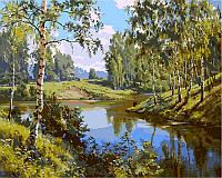 Картины по номерам 40×50 см. Тихая речка, фото 1