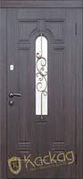 """Двери входные металлические Модель """"Лира"""" (заказной цвет, стекло, ковка)"""