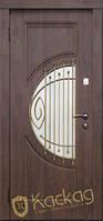 """Двери входные металлические Модель """"Адамант"""" (заказной цвет, стекло, ковка)"""