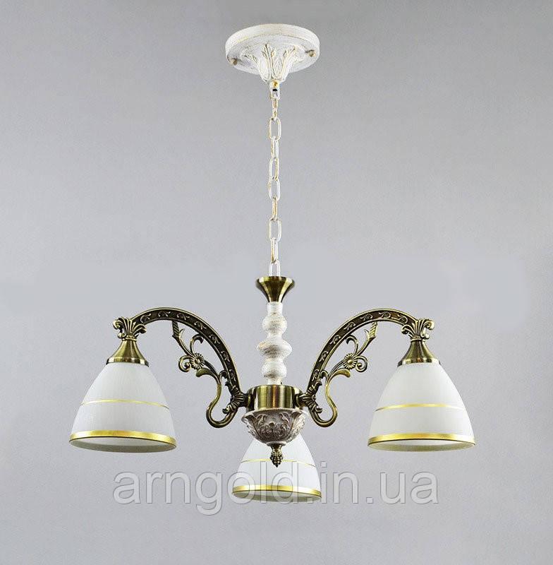 Люстра подвесная на три лампы 14-6897/3WG+AB