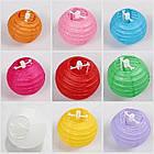 Бумажные шары для декора плиссе  25 см. желтый, фото 4