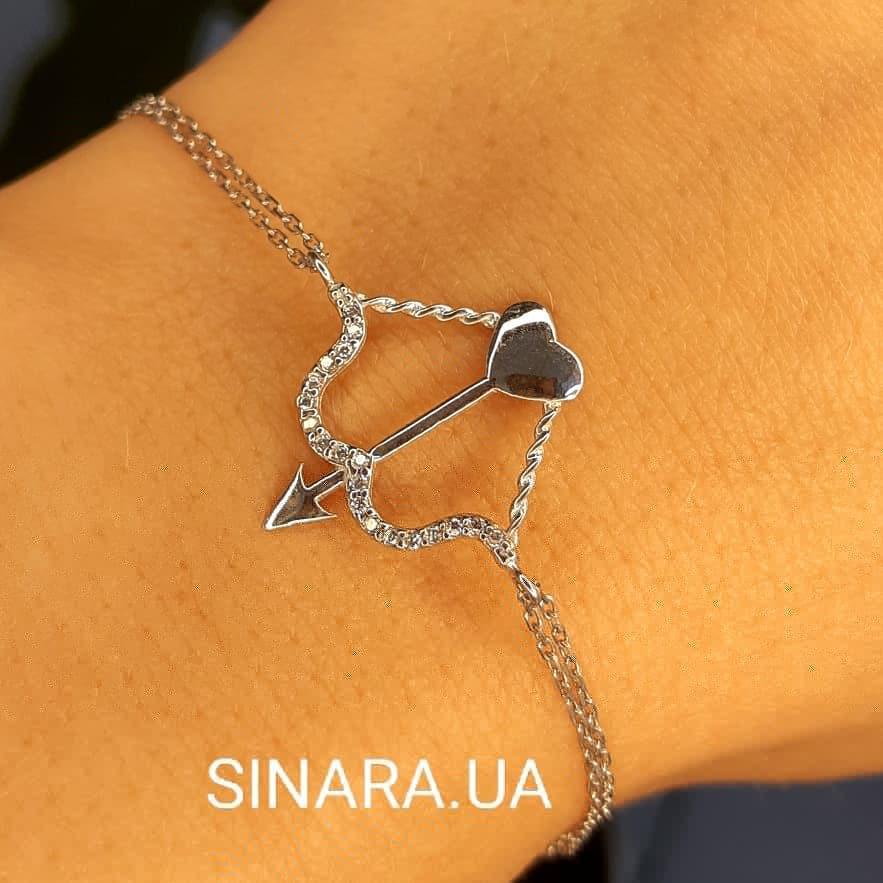 Серебряный браслет Amour - Cтрела Амура браслет женский  - Серебряный браслет в стиле минимализм