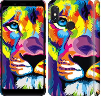 "Чехол на Redmi Note 5 Pro Разноцветный лев ""2713c-1353-328"""