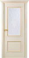 """Двери Belwooddoors """"Франческа"""" ПО резной декор с мет зол рис.34 (слоновая кость)"""