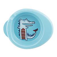 Термостойкая тарелка, от 6 мес.,  голубой «CHICCO» (16000.20)