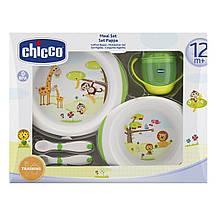 Подарочный набор посуды: тарілки 2 шт, чашка, ложка, виделка «CHICCO» (06833.00)