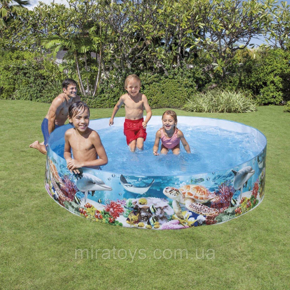 ✅Басейн дитячий надувний Intex 58472 «Океанський риф», 244 х 46 см