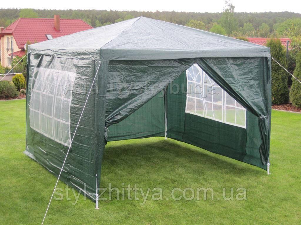 Намет, шатер в сад/ на дачу + 4 стінки