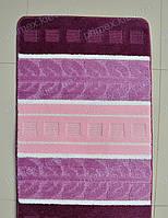 """Набор ковриков для ванной, 60х100 + 60х50см. """"Колоски"""", цвет лиловый"""