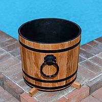 Кадка деревянная для растений 80 литров из дуба
