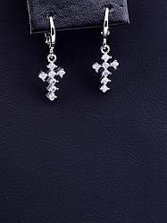 Серьги, тоговой марки xuping jewelry:  Фианит (родий)