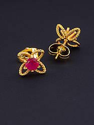 Серьги, тоговой марки xuping jewelry:  Фианит (позолота 18к)
