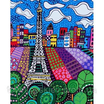 """Картина по номерам. Букет """"Облака в Париже"""" 40*50см KHO2165"""