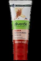 Alverde Крем для чистки проблемной кожи с Глиной Clear Waschcreme Heilerde 100ml