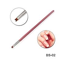 Кисть для рисования френча BS-02