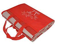 """Пляжный коврик-сумка складной """"Пальмы"""" 170х90 см (Красный), фото 1"""