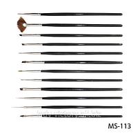 Набор кистей для дизайна и рисования на ногтях. SK-24