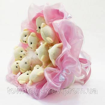 Букет из игрушек Мишки 11 нежно-розовый 5347IT