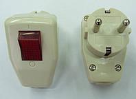 Вилка штепсельная с выключателем