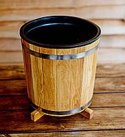 Кадка для растений 17 литров с пластиковой вставкой (дуб)