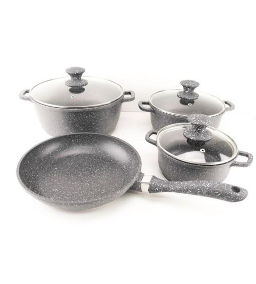 Набор посуды с мраморным покрытием, 7 предметов A-Plus 1501