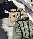Коттоновая женская юбка с ремешками и накладными карманами 68wa255, фото 2