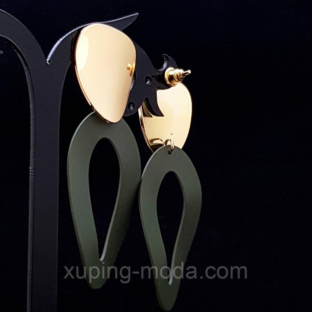 Серьги длинные, вечерние позолота 18к  Xuping