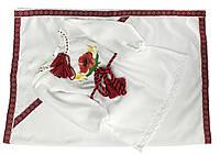 Вишита сукня для дівчинки на хрестини із квітковим орнаментом