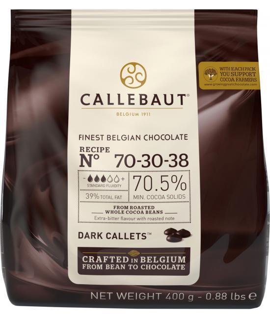 Шоколад Черный #70-30-38 0,4кг Callebaut