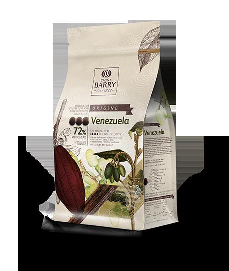 Шоколад черный VENEZUELA 72% 1кг Cacao Barry